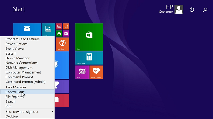 تنظیمات hardware and sound لپ تاپ اچ پی