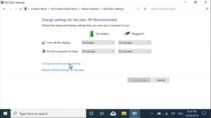 تنظیمات لپ تاپ از طریق منوی control panel