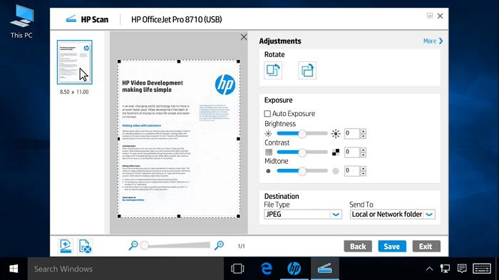 نصب windows | hp mfp scan