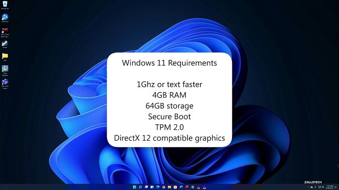 حداقل سیستم مورد نیاز برای نصب ویندوز eleven در لپ تاپ اچ پی