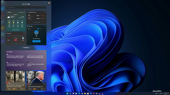 فضای ویندوز 11 در HP Laptop | ویندوز 11