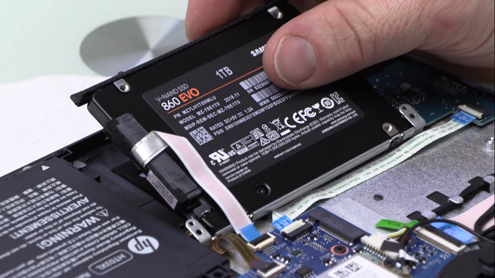 نصب هارد SSD در لپتاپ های اچ پی